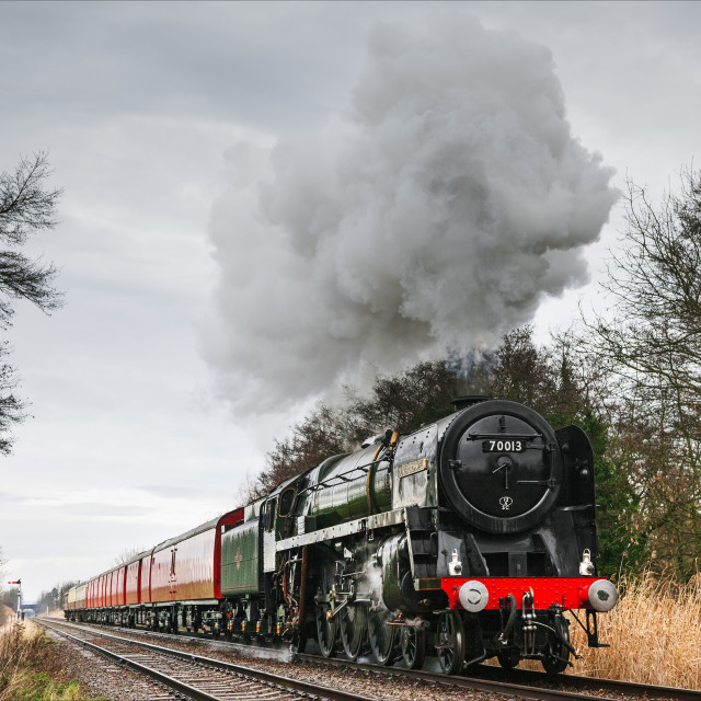 """""""Oliver Cromwell at speed with the mail"""" stock image"""
