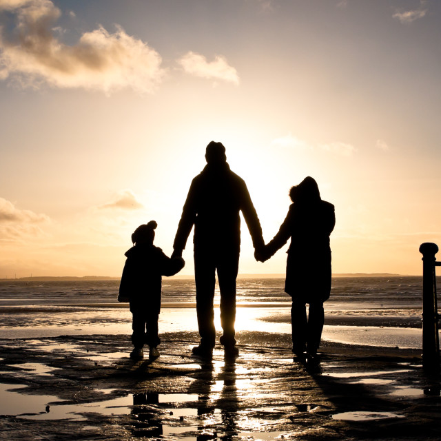 """Family at the coast"" stock image"