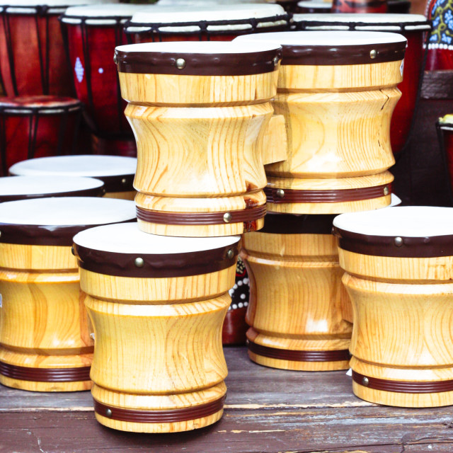 """Wooden bongos"" stock image"