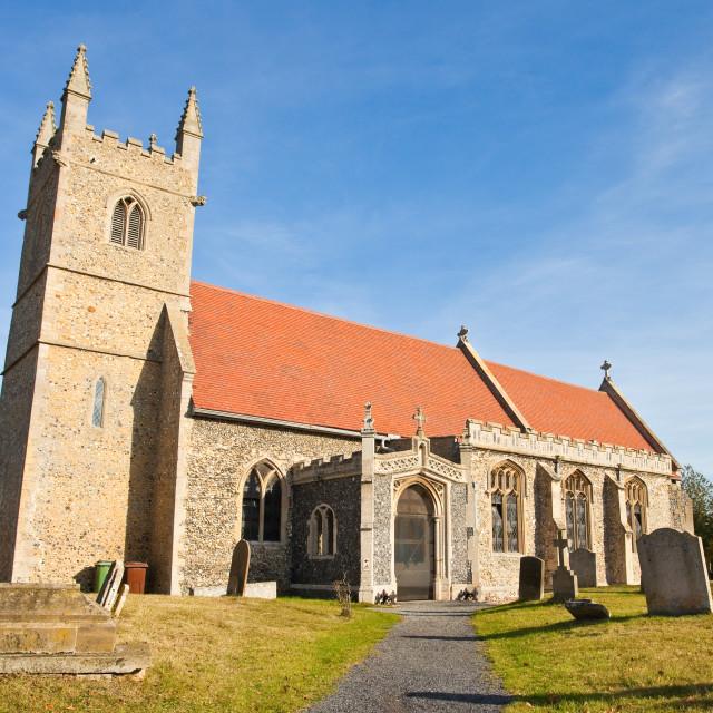 """English village church"" stock image"