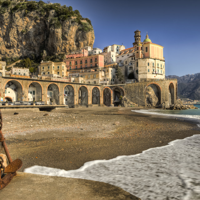 """Atrani : italian fishing village Amalfi coast"" stock image"