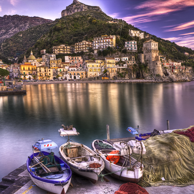 """Cetara fishing village Amalfi coast"" stock image"