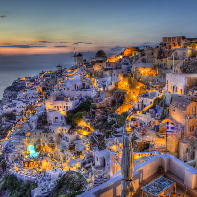 """Oia village Santorini island Greece"" stock image"