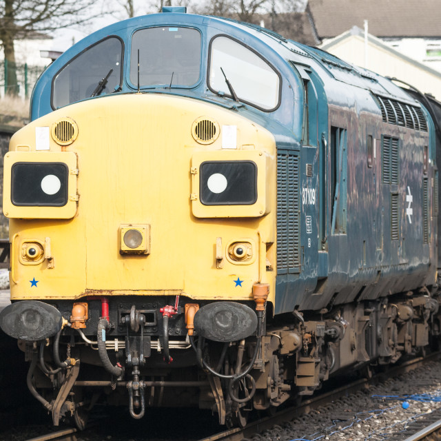 """English Electric Class 37 diesel loco"" stock image"