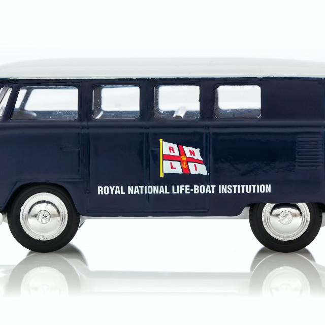 """VW Van with RNLI Logo"" stock image"