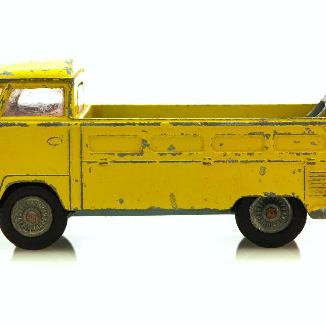 """VW Yellow VW Pick-Up"" stock image"