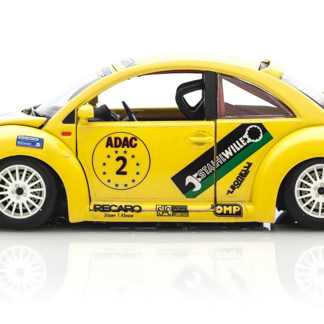 """""""vw Yellow Beetle Two"""" stock image"""