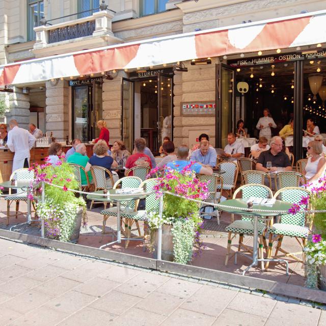 """Sweden, Stockholm - Restaurant Sturehof at Stureplan."" stock image"