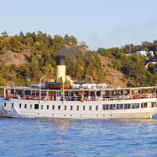 """Sweden, Stockholm - Steamboat Ferry Heading for Archipelago."" stock image"