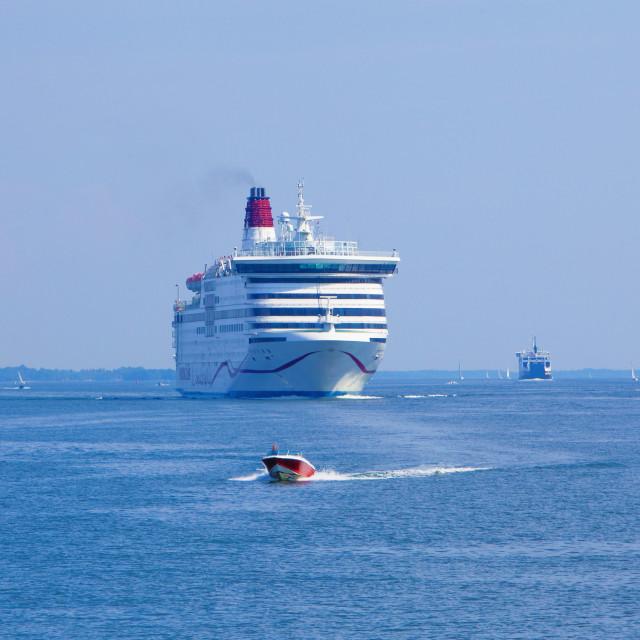 """Sweden, Stockholm Archipelago - Passanger Ferries leaving for Finland"" stock image"