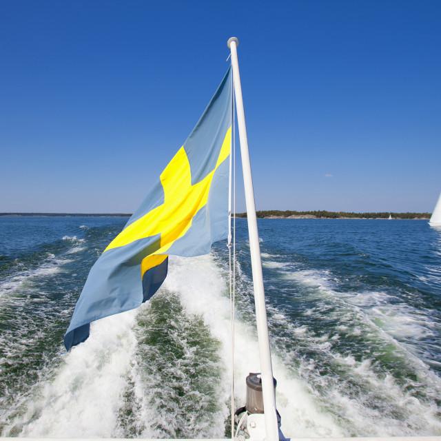 """""""Sweden - Sailing in Stockholm Archipelago"""" stock image"""