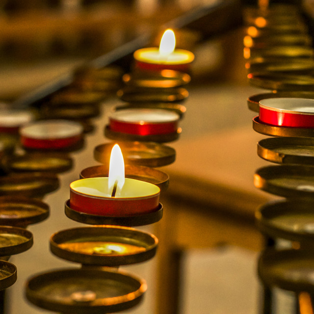 """Remembrance Candles"" stock image"