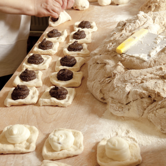 """Professional Bakery - Baker Making Sweet Pastry"" stock image"