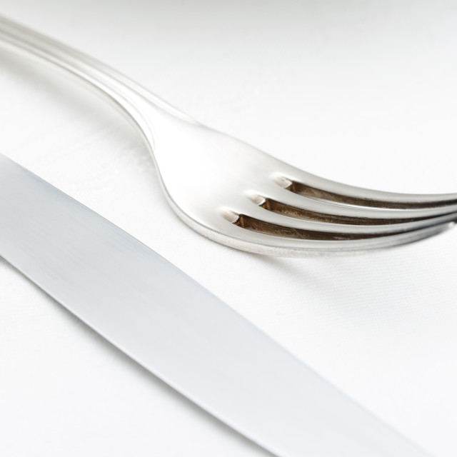 """Elegant Table Setting with Silverware"" stock image"