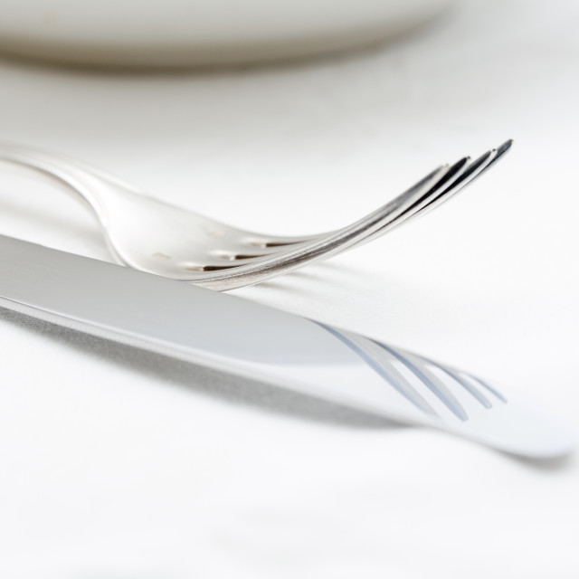 """Closeup of Silverware"" stock image"