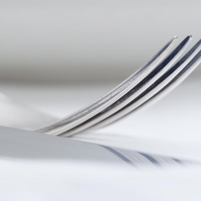 """Extreme Closeup of Silverware"" stock image"