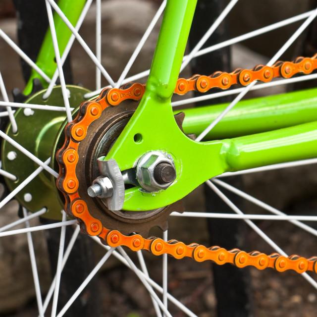 """""""Bicycle wheel"""" stock image"""