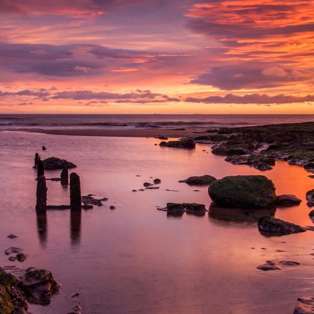 """""""Reflecting Sunrise"""" stock image"""