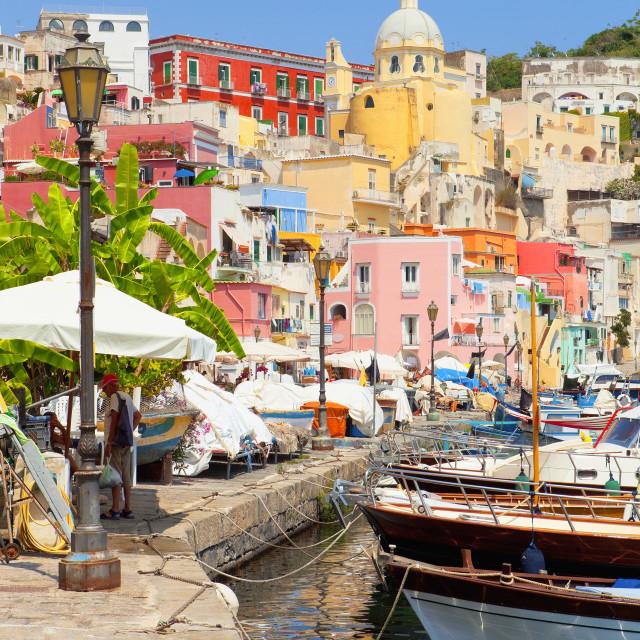 """""""Marina Corricella, Procida Island, Bay of Naples, Campania, Italy"""" stock image"""