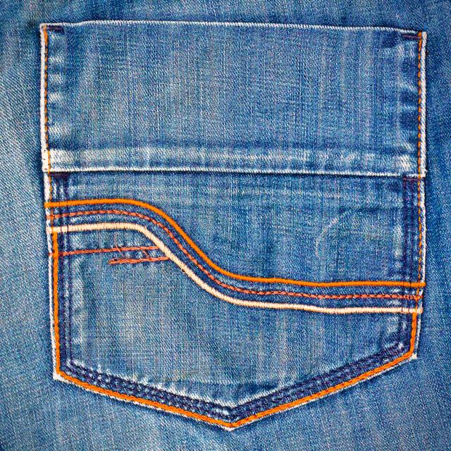 """Jeans pocket"" stock image"