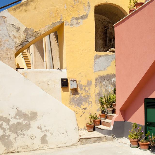 """Italy, Gulf of Naples, Procida island - Village Corricella."" stock image"