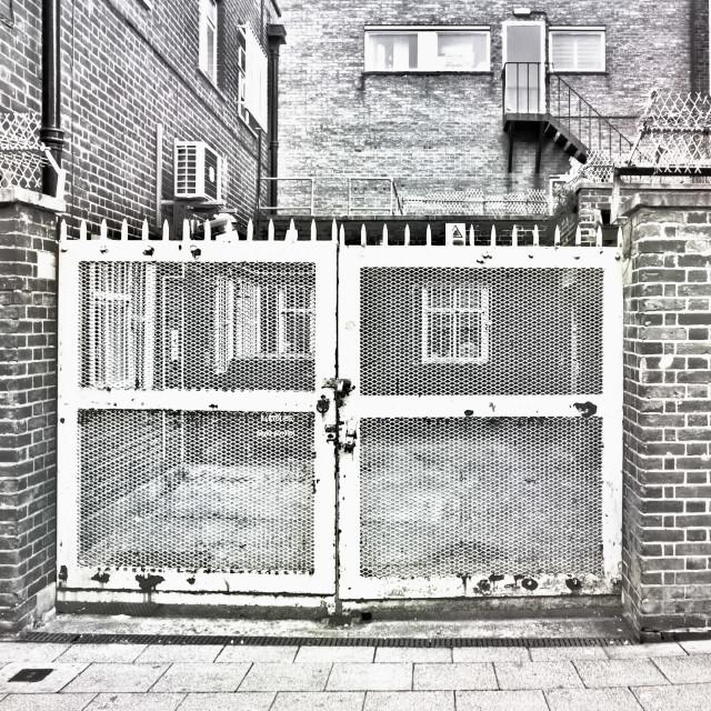 """""""Metal gate"""" stock image"""