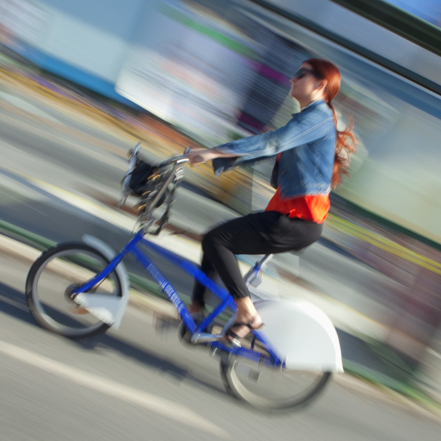 """Sweden, Stockholm - bike as the most popular transport around town."" stock image"