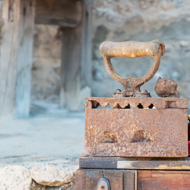 """Vintage Flat Iron"" stock image"