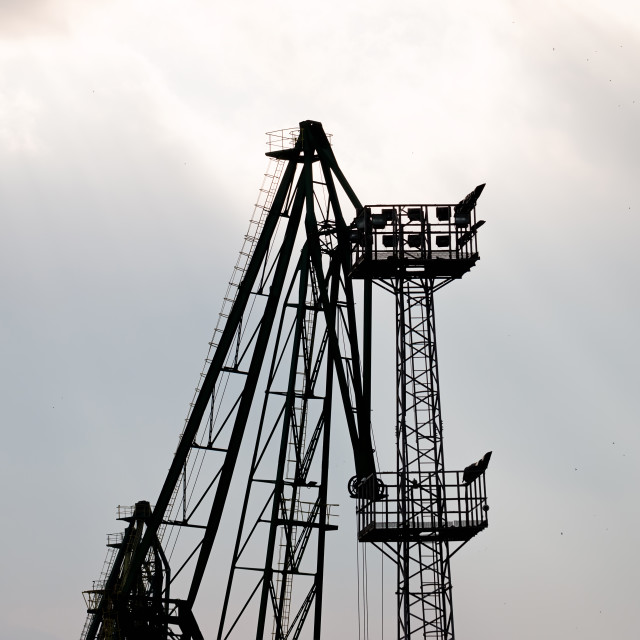 """""""Cranes At The Port"""" stock image"""