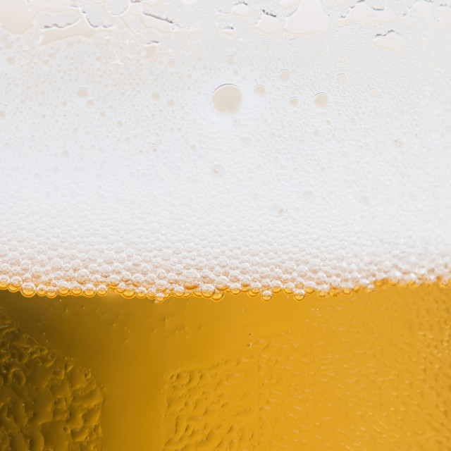 """""""Close Up Of Beer Bubbles"""" stock image"""