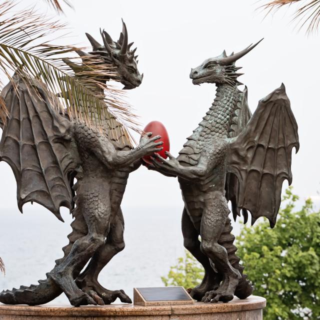 """""""Bronze Dragons"""" stock image"""