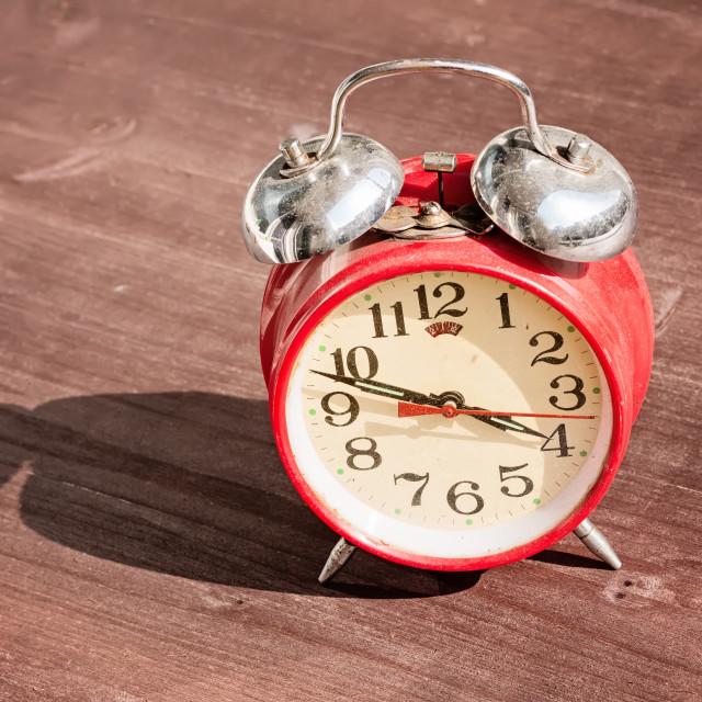 """Old vintage alarm clock"" stock image"