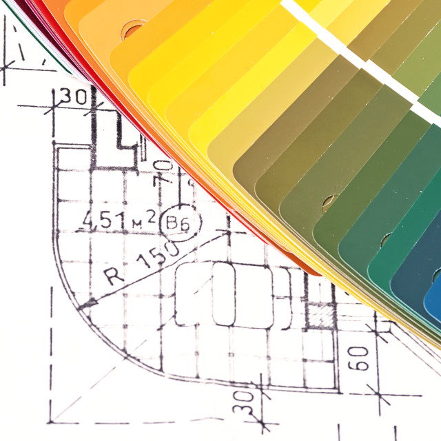 """Color Swatches And Plans"" stock image"
