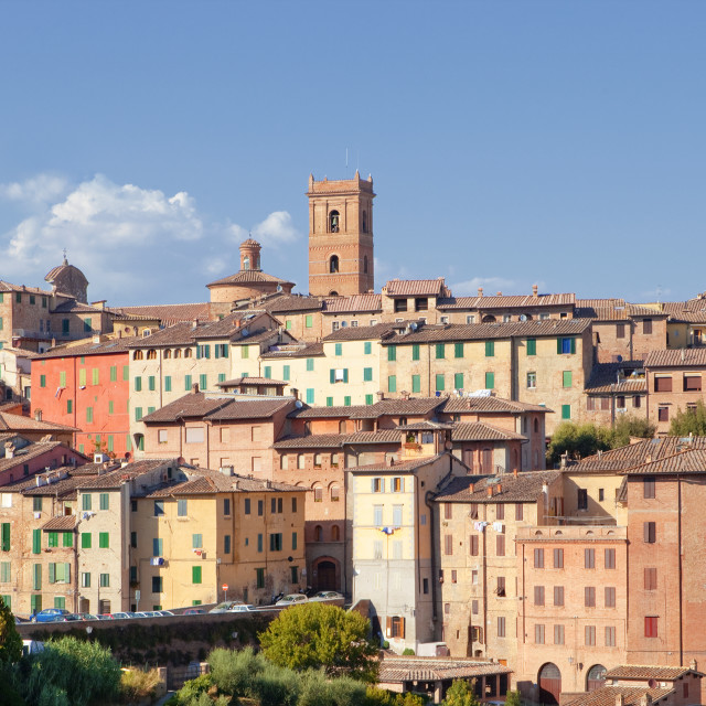 """""""Italy, Tuscany, Siena - The Old Town"""" stock image"""