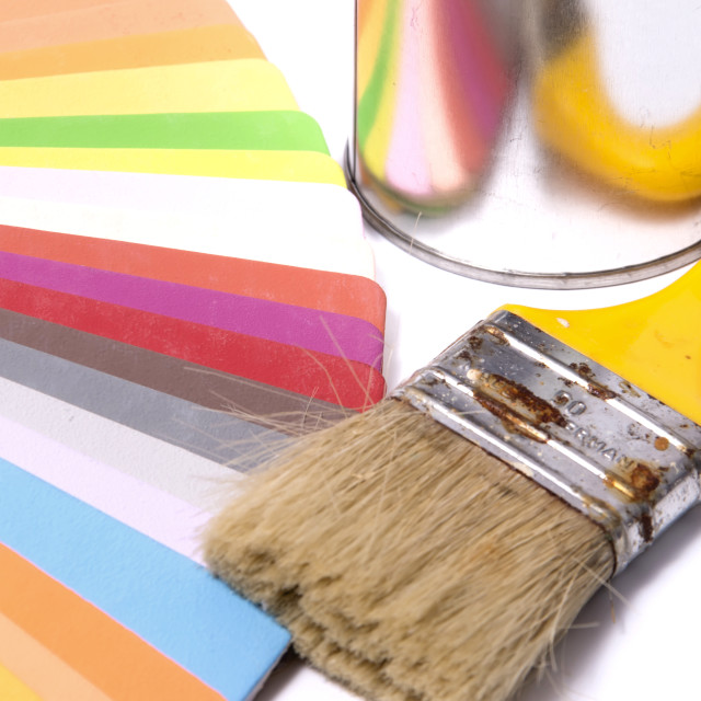 """""""Brush Over Color Swatches"""" stock image"""