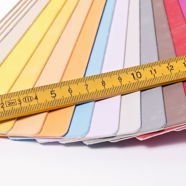 """Color Palette and metric folding ruler"" stock image"