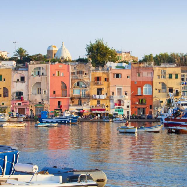 """""""Marina Grande, Procida Island, Bay of Naples, Campania, Italy"""" stock image"""