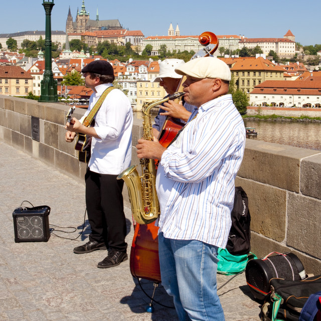"""Czech Republic, Prague - Charles Bridge"" stock image"