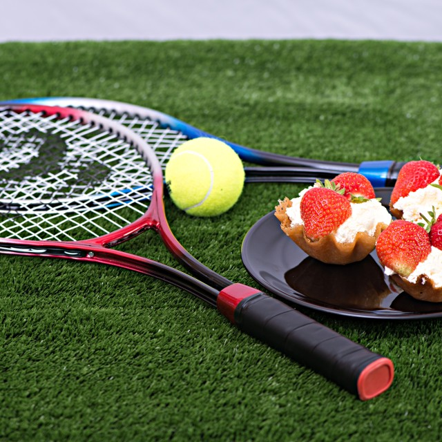 """Anyone for Tennis"" stock image"
