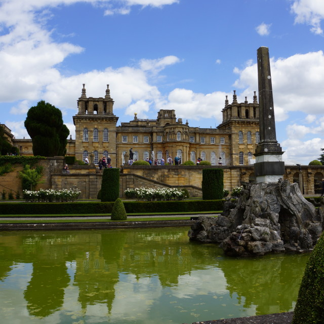 """Blenheim Palace"" stock image"