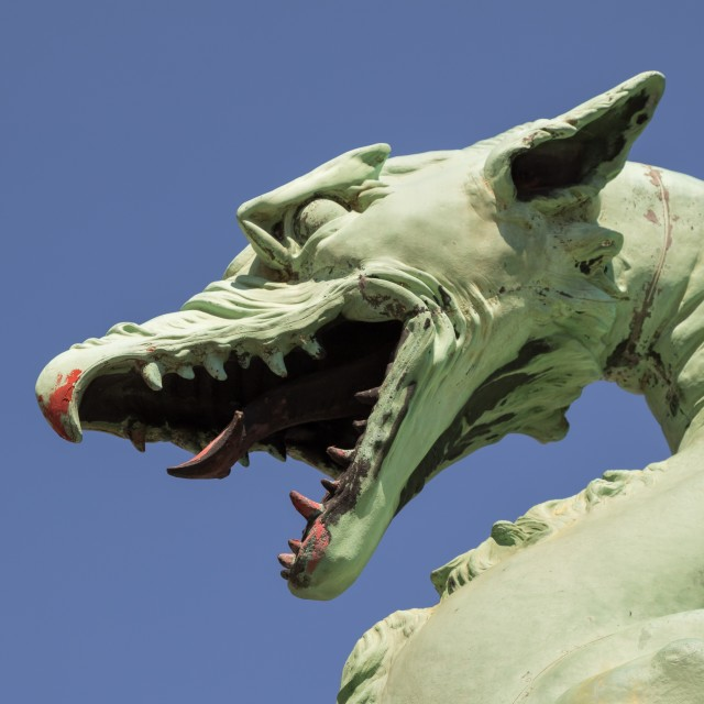 """Dragon statue"" stock image"