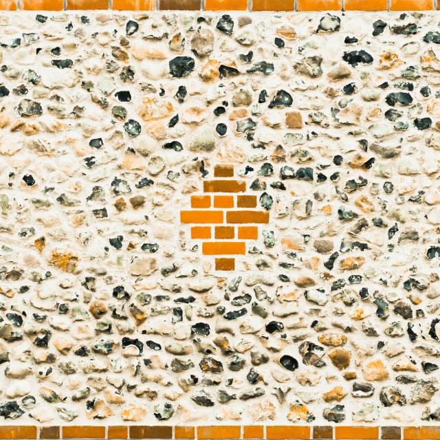 """Flint stone wall"" stock image"
