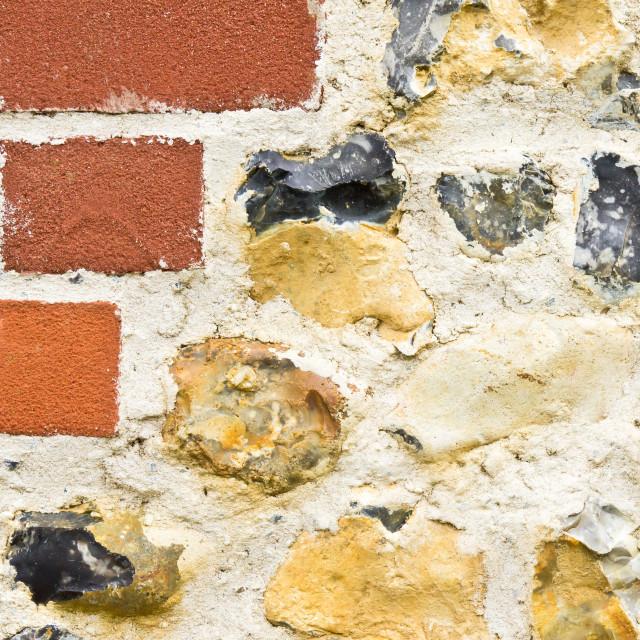 """Stone and brick wall"" stock image"