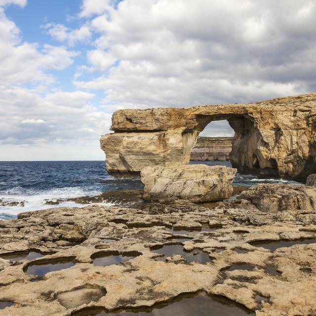 """""""Azure Window-Gozo"""" stock image"""