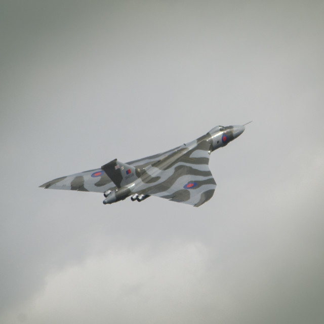 """Vulcan flight XH558"" stock image"