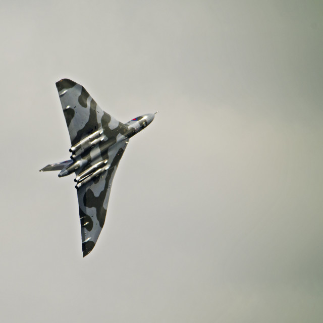 """Vulcan Bomber XH558 Final Flight"" stock image"