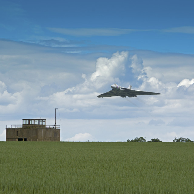 """Vulcan Flight XH558 flypast"" stock image"