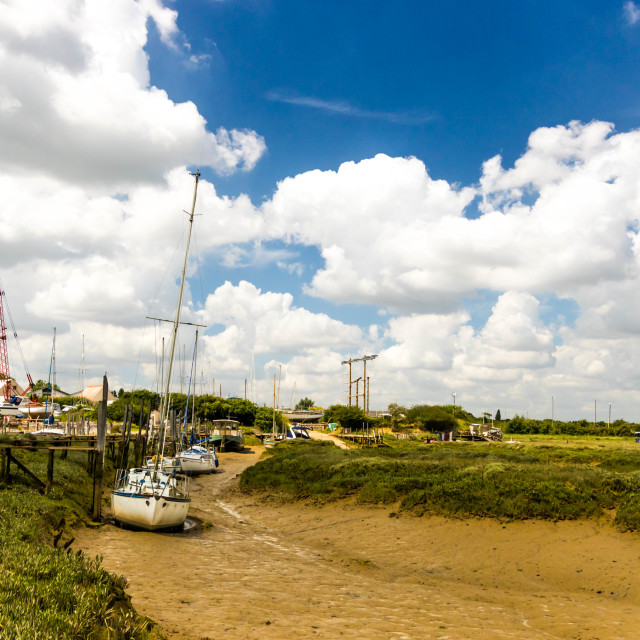 """Mud berths at Tollesbury"" stock image"