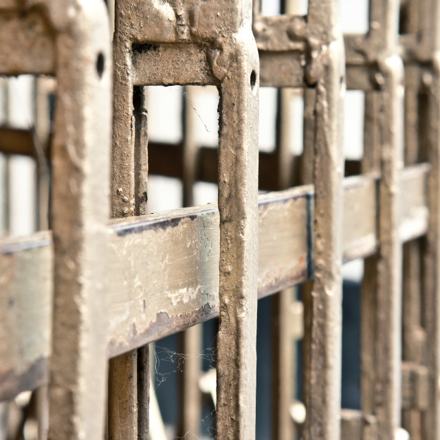 """Metal bars"" stock image"