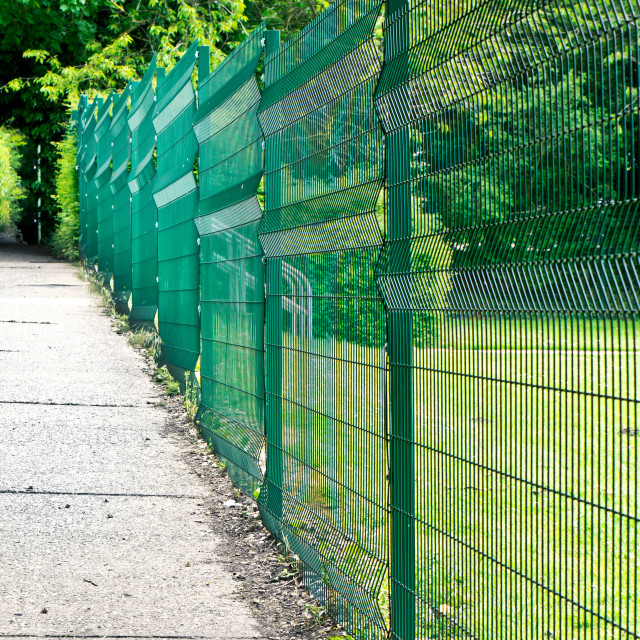"""""""Green fence"""" stock image"""